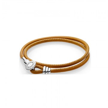 Moments Double Loop Leather Bracelet DOS9908