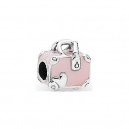 Pink Travel Bag Enamel Charm DOCJ9794
