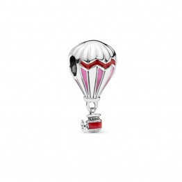 Red Hot Air Balloon Enamel Charms DOCJ9873