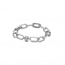 ME Series Link Sterling Silver Bracelet DOM9974