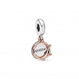 Queen And Crown Pendant Charm DOR9841