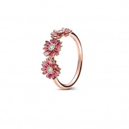 Pink Daisy Silver Ring DOZ9689