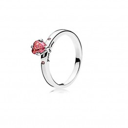 Pink heart Silver Ring DOZ9828
