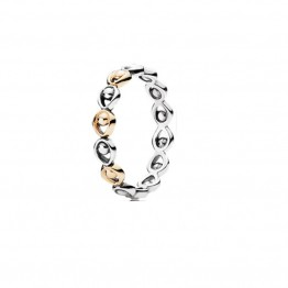 Fashion Contrast Silver Rings DOZ9929