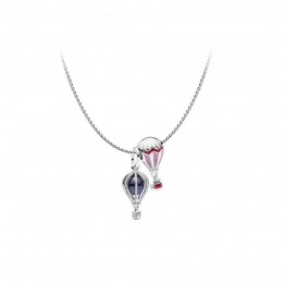 Hot air balloon necklace DOU9870-1