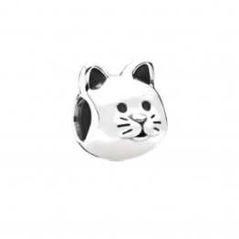 Curious Cat Silver Charm DOCY9941